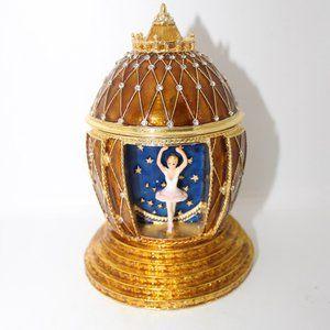 Nutcracker Ballet Faberge Egg Trinket Jewelry Box